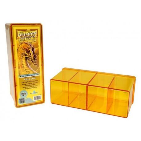 Scatola Rigida Porta Carte - 4 Compartimenti - Dragon Shield - Giallo