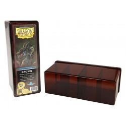 Scatola Rigida Porta Carte - 4 Compartimenti - Dragon Shield - Marrone