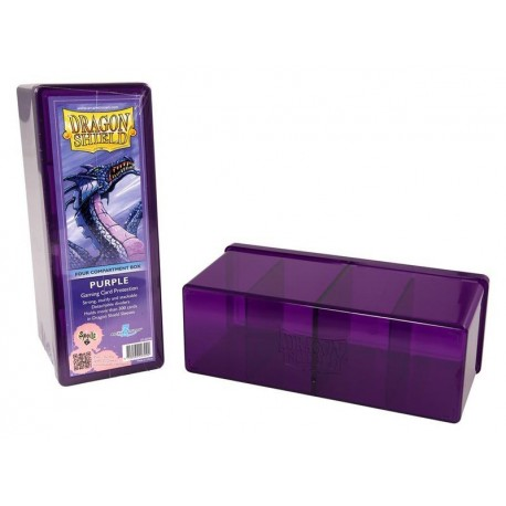 Scatola Rigida Porta Carte - 4 Compartimenti - Dragon Shield - Viola