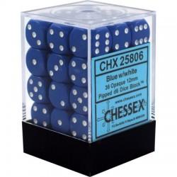 Set di 36 Dadi a D6 Facce - Chessex - Opaco - Blu/Bianco