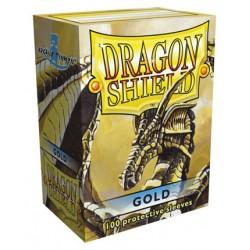 100 Sleeves Standard - Dragon Shield - Gold