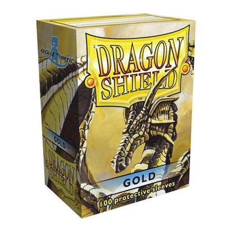 100 Bustine Protettive Standard - Dragon Shield - Oro