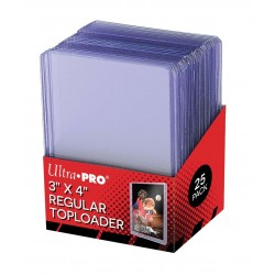 25 Proteggi Carta Rigido - Regular Toploader - Ultra Pro