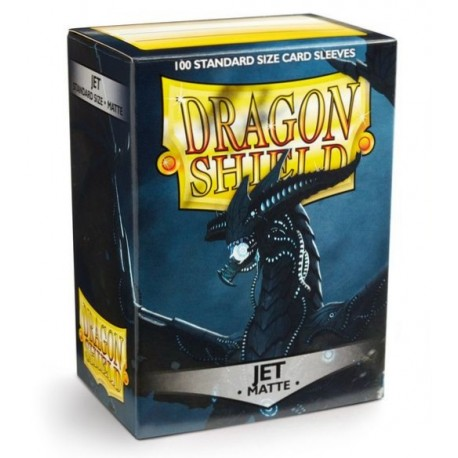 100 Sleeves Standard Matte - Dragon Shield - Jet
