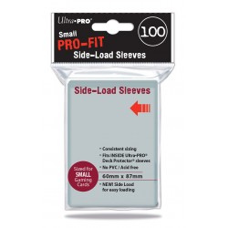 100 Sleeves Small Side Load - Ultra Pro - Clear