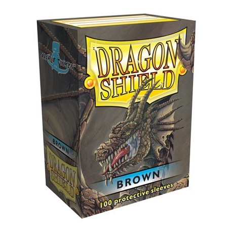 100 Bustine Protettive Standard - Dragon Shield - Marrone
