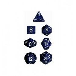 Set di 7 Dadi a D4 D6 D8 D10 D12 D20 Facce - Chessex - Maculato - Stealth Camo