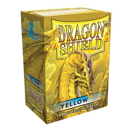 100 Bustine Protettive Standard - Dragon Shield - Giallo