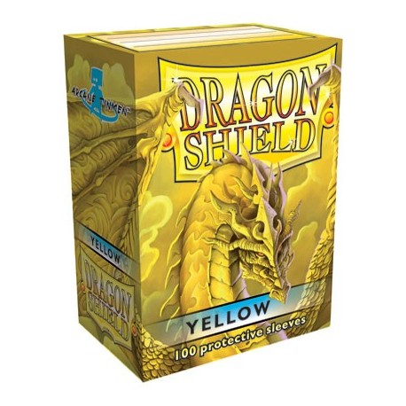 100 Sleeves Standard - Dragon Shield - Yellow