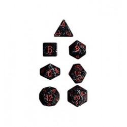 Brick Box of 7 Dices - D4 D6 D8 D10 D12 D20 Spots - Chessex - Speckled - Space Camo