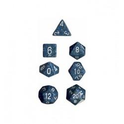 Set di 7 Dadi a D4 D6 D8 D10 D12 D20 Facce - Chessex - Maculato - Sea Camo