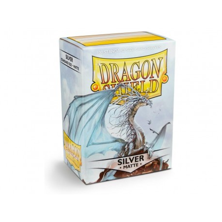 100 Sleeves Standard Matte - Dragon Shield - Silver