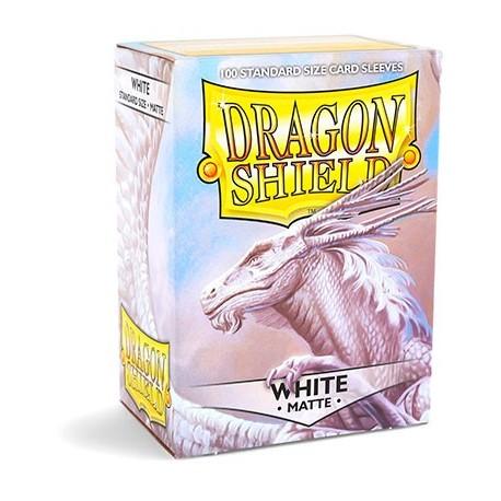 100 Bustine Protettive Standard Matte - Dragon Shield - Bianco