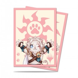 100 Bustine Protettive Standard - Ultra Pro - MTG - Chibi Collection - Ajani Lion Hug