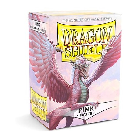 100 Sleeves Standard Matte - Dragon Shield - Pink