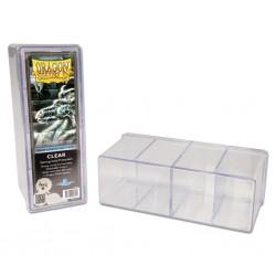 Scatola Rigida Porta Carte - 4 Compartimenti - Dragon Shield - Clear Trasparentea
