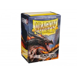100 Sleeves Standard Matte NonGlare - Dragon Shield - Black