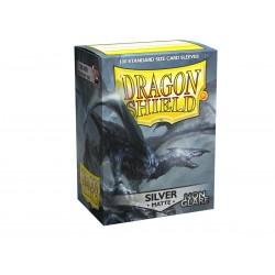 100 Sleeves Standard Matte NonGlare - Dragon Shield - Silver