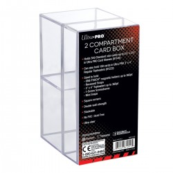 2-Piece Toploader Box Two Compartment - Ultra Pro - Clear