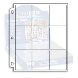 1 Pages for Album Ultra Pro Silver - 9 Pocket Standard - 11 Holes