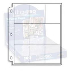 1 Pagine per Album Ultra Pro Silver - 9 Tasche Standard - 11 Fori