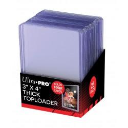 25 Super Thick 100PT Toploader - Ultra Pro