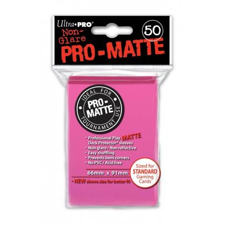 50 Bustine Protettive Pro-Matte - Ultra Pro - Rosa Brillante