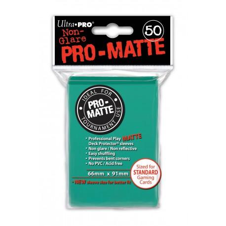 50 Bustine Protettive Standard Pro Matte - Ultra Pro - Azzurro Acqua