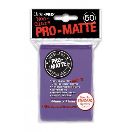 50 Bustine Protettive Standard Pro Matte - Ultra Pro - Viola