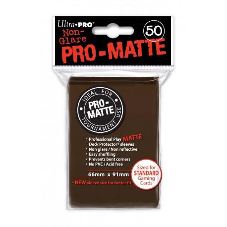 50 Bustine Protettive Standard Pro Matte - Ultra Pro - Marrone