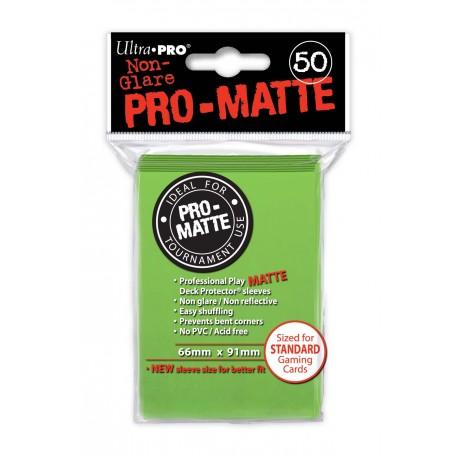50 Bustine Protettive Standard Pro Matte - Ultra Pro - Verde Lime