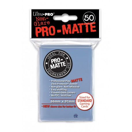 50 Sleeves Standard Pro-Matte - Ultra Pro - Clear
