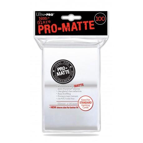 100 Bustine Protettive Standard Pro Matte - Ultra Pro - Bianco