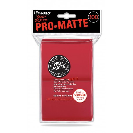 100 Sleeves Standard Pro-Matte - Ultra Pro - Red