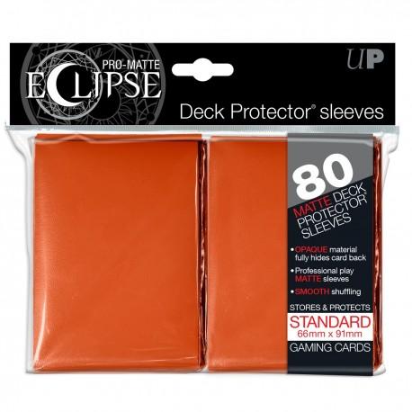80 Sleeves Standard Pro-Matte Eclipse - Ultra Pro - Orange