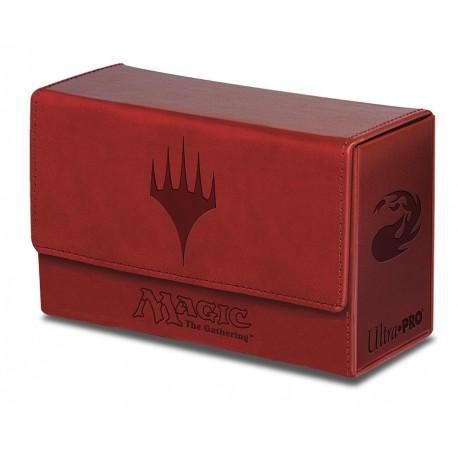Porta Mazzo Premium Dual Flip Box - Ultra Pro - Planeswalker - Red Mana