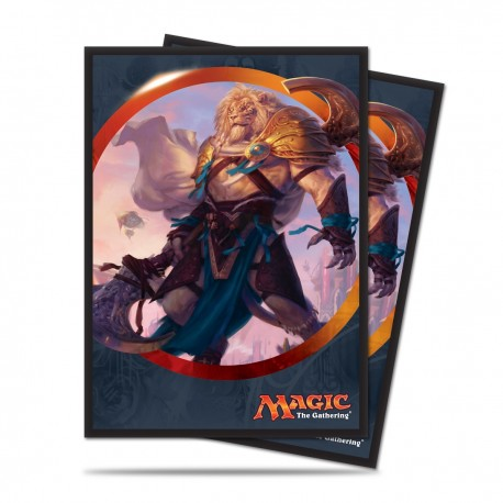 80 Bustine Protettive Standard - Ultra Pro - Magic The Gathering - Aether Revolt - Ajani Unyielding