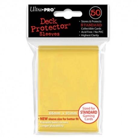 50 Bustine Protettive Standard - Ultra Pro - Giallo