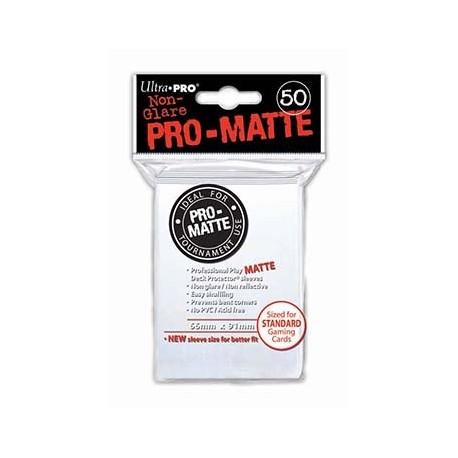 50 Bustine Protettive Pro-Matte - Ultra Pro - Bianco