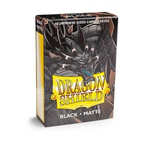 60 Sleeves Small Matte - Dragon Shield - Black