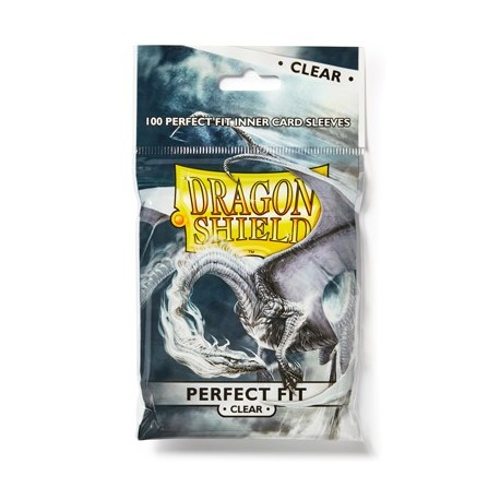 100 Sleeves Standard Perfect Fit - Dragon Shield - Clear