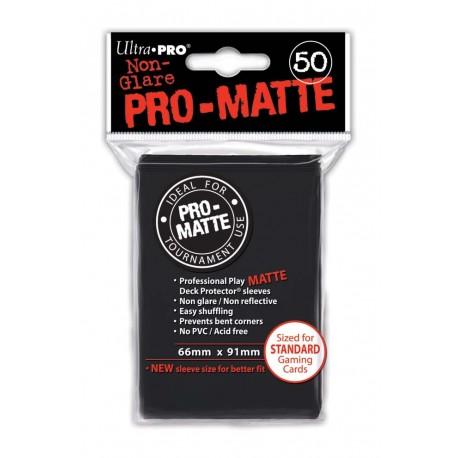50 Bustine Protettive Pro-Matte - Ultra Pro - Nero