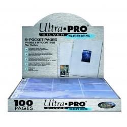 100 Pagine per Album Ultra Pro Silver - 9 Tasche Standard - 11 Fori