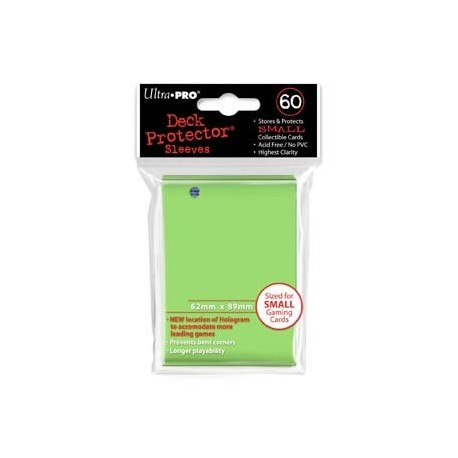 60 Bustine Protettive Small - Ultra Pro - Verde Limone