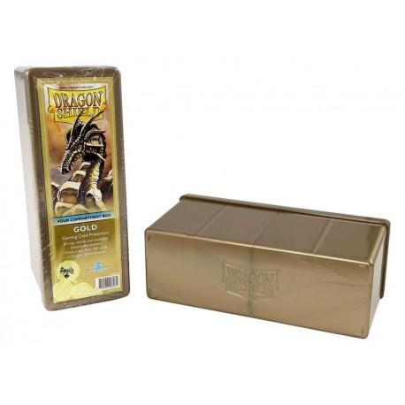 Scatola Rigida Porta Carte - 4 Compartimenti - Dragon Shield - Oro