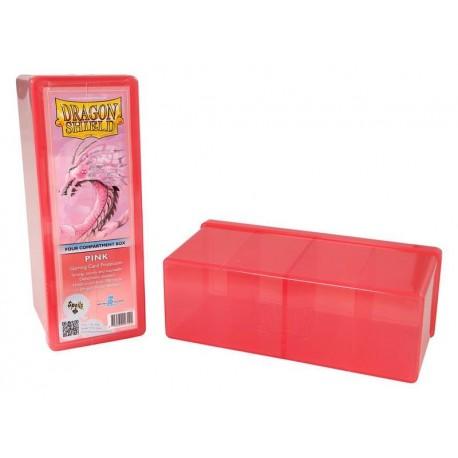 Scatola Rigida Porta Carte - 4 Compartimenti - Dragon Shield - Rosa
