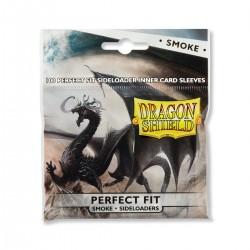 100 Sleeves Standard Perfect Fit Sideloader - Dragon Shield - Smoke