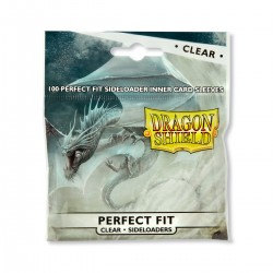 100 Sleeves Standard Perfect Fit Sideloader - Dragon Shield - Clear
