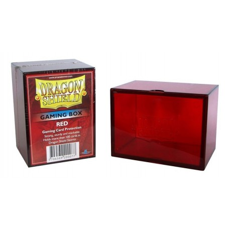 Porta Mazzo Gaming Box - Dragon Shield - Rosso