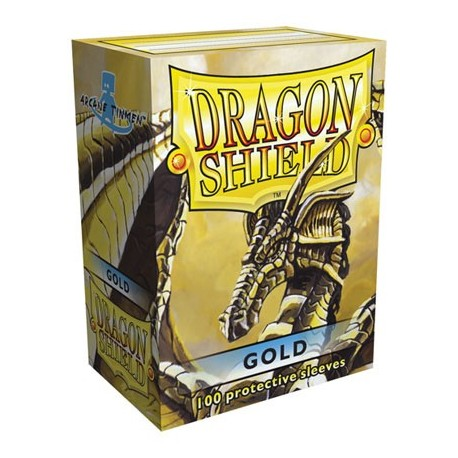 100 Sleeves Standard - Dragon Shield - Gold